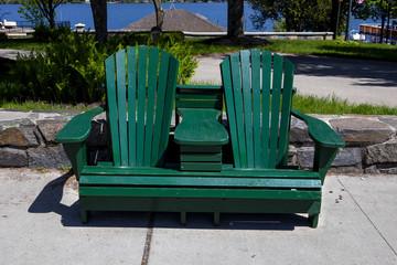 Twin Adirondack Chair bench