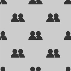 user group icon vector seamless pattern