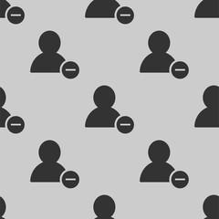 remove user icon vector seamless pattern
