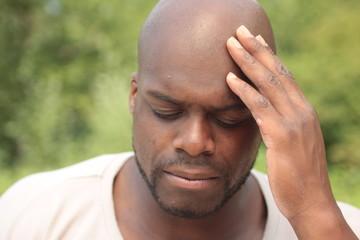 Black man outside