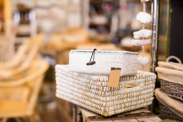 Image of purpose baskets for design interior at shop