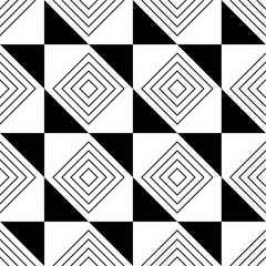 abstraktes, nahtloses muster in schwarz weiß. Vektor Datei eps 10