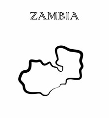 the Zambia map