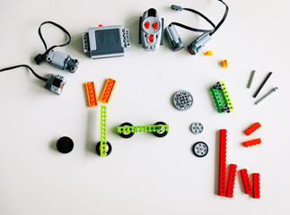 objects prepared for robotic technology school lesson