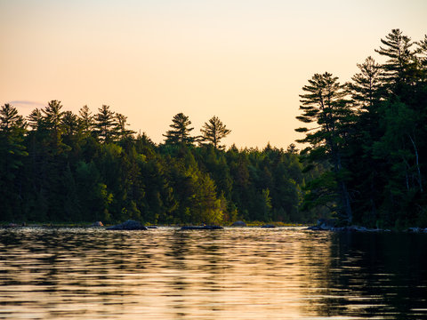 Sunset on Water, Forest River, Penobscot River, Maine