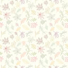 Assortment autumn seamless pattern