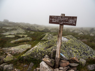 Wooden Trail Sign, Katahdin, Alpine Trail, Weathered Sign