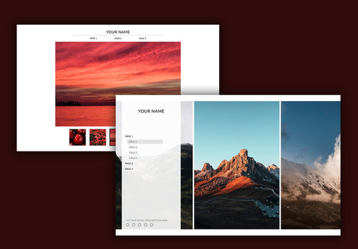Photography Website Layout