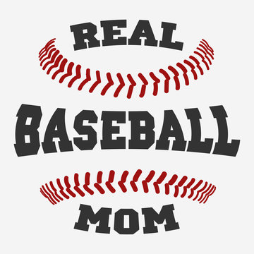 Baseball mom Typography