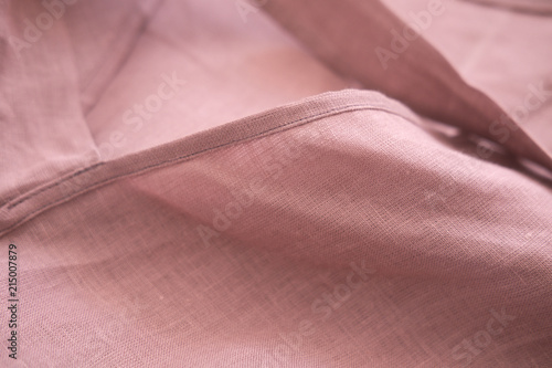 Blush pink soft linen fabric  Delicate sensual folds