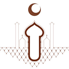 Abstract arabic temple. Ramadan kareem