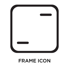 frame icons isolated on white background. Modern and editable frame icon. Simple icon vector illustration.