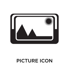 picture icons isolated on white background. Modern and editable picture icon. Simple icon vector illustration.