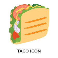 taco icons isolated on white background. Modern and editable taco icon. Simple icon vector illustration.