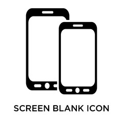 Screen blank icon vector sign and symbol isolated on white backg