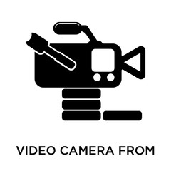 Video camera from side view icon vector sign and symbol isolated