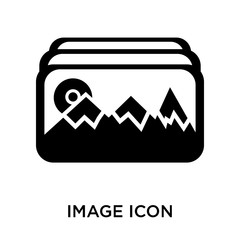 Image icon vector sign and symbol isolated on white background,