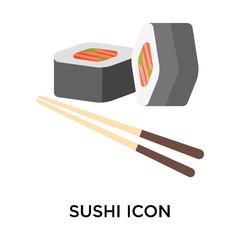 sushi icons isolated on white background. Modern and editable sushi icon. Simple icon vector illustration.