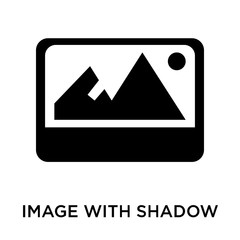 image with shadow interface icon isolated on white background. Modern and editable image with shadow interface icon. Simple icons vector illustration.