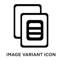 Image variant icon vector sign and symbol isolated on white back