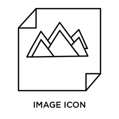 Image icon vector sign and symbol isolated on white background, Image logo concept