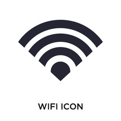 Wifi icon vector sign and symbol isolated on white background, Wifi logo concept