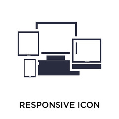 Responsive icon vector sign and symbol isolated on white background, Responsive logo concept