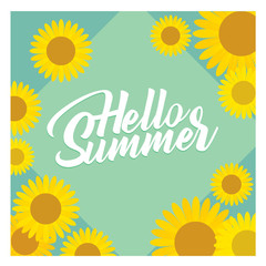 Vector background template design with summer themes