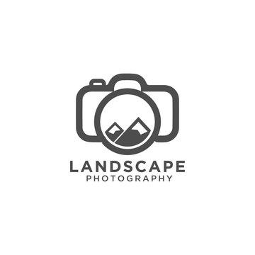 Landscape photography logo design template