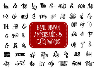 Ampersand and catchword retro lettering