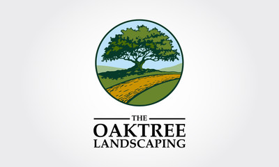 The Oak Tree Landscaping Logo Template, clean and unique, suitable to any kind of companies.