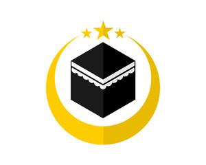 moon worship place hajj mecca religion muslim image vector icon logo symbol