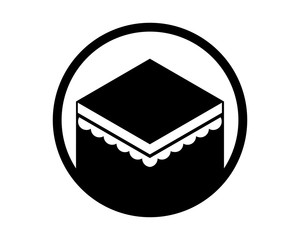 circle worship place hajj mecca religion muslim image vector icon logo symbol