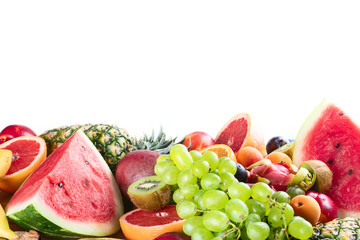 Wall Mural - Healthy organic fruits background.