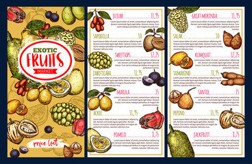 Exotic fruits and tropical berries price list