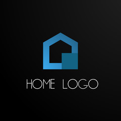 HOME logo concept, abstract  logo, sign, symbol or mark for site, house contruction, architech company