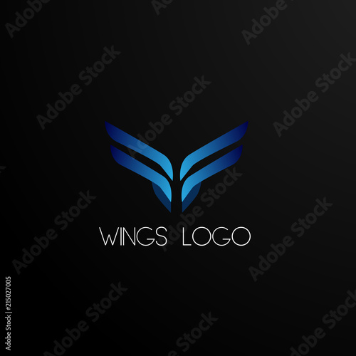 Wings Logo Concept Abstract Logo Sign Symbol Or Mark For Car