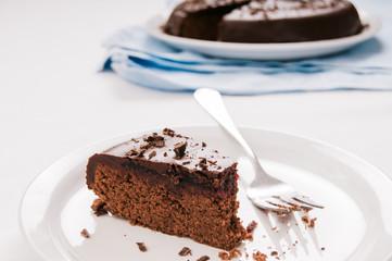 Slice of Chocolate pomegranate torte
