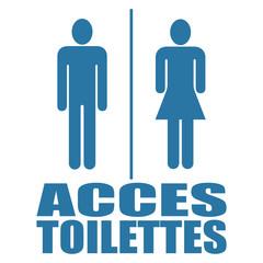 Logo accès toilettes.