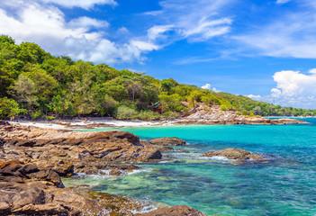 Beautiful tropical sandy beach in Thailand.