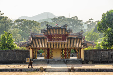 Amazing Hien Duc Gate at the Minh Mang Tomb, Hue