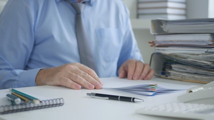 Businessman Image Working in Accounting Archive Office