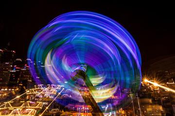 Blurred Fairground Ride