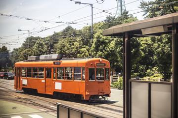 japan old train. monorail