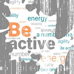 Poster design. Grunge vector illustration