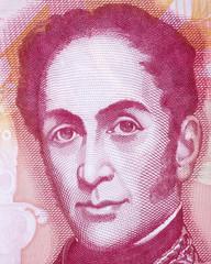 Simon Bolivar portrait from Venezuelan money