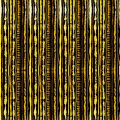 Seamless watercolour shibori tie-dye pattern of yellow color on black silk. Hand painting fabrics - nodular batik. Shibori dyeing for fabric, textile, ceramic