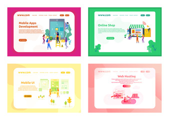 Landing Page Design Business People