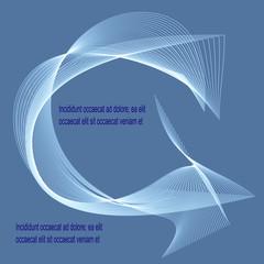 Background dark blue abstract, dark, wave, light, blue.