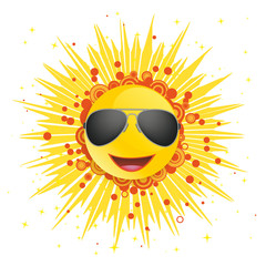 Abstract Sun Sunglasses